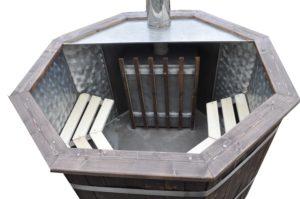 Японская баня. Купель с печью